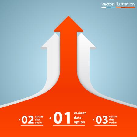 Illustration pour Arrows business growth art info. Vector illustration - image libre de droit