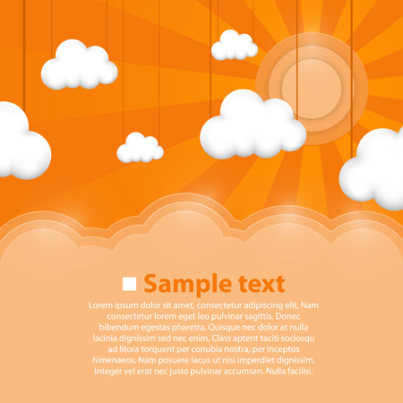 Illustration for Decoration clouds background art. Vector illustration background - Royalty Free Image