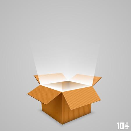 Illustration pour Open box with the outgoing light. Vector illustration - image libre de droit
