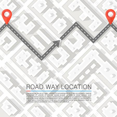 Illustration pour Paved path on the road. Vector background - image libre de droit
