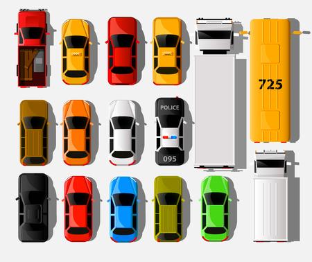 Illustration pour City vehicle transport icons set - image libre de droit