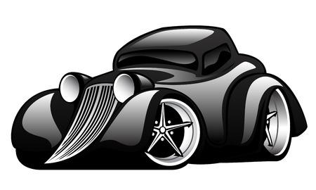 Ilustración de Black Classic Street Rod Illustration - Imagen libre de derechos