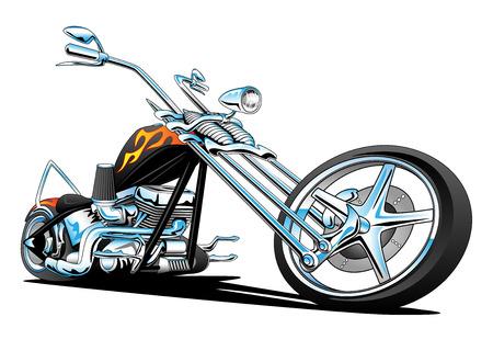 Illustration pour Custom American Chopper Motorcycle - image libre de droit