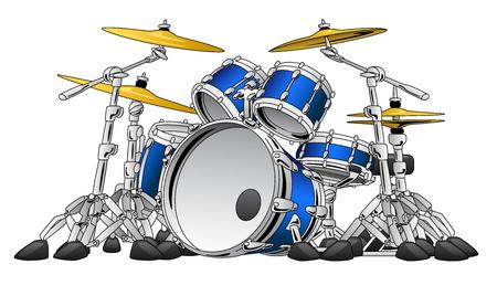 Ilustración de 5 Piece Drum Set Musical Instrument Illustration - Imagen libre de derechos