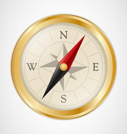 Ilustración de Golden Vintage Compass - Imagen libre de derechos