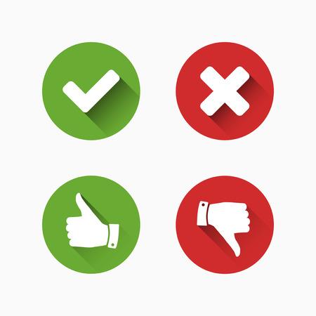 Illustration pour Check and Cancel Marks - image libre de droit