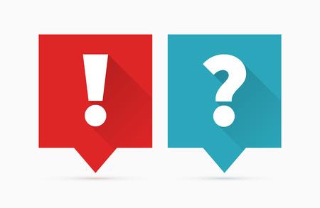 Illustration pour Question and answers icon, flat design - image libre de droit