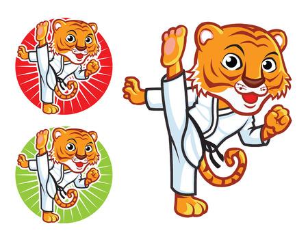 Karate Tiger Mascot