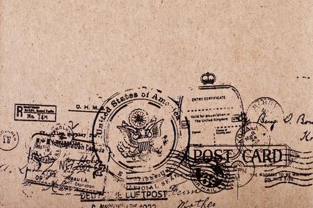 Photo pour a Back side blank vintage postcard - image libre de droit