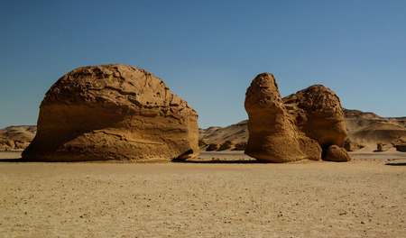 Nature sculpture in Wadi Al-Hitan aka Whales Valley in Egypt