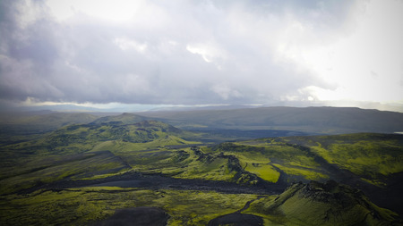 Photo for Landscape of Lakagigar valley and Laki craters in central Iceland - Royalty Free Image