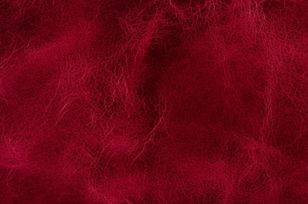 Photo pour Red leather texture closeup detailed background. - image libre de droit
