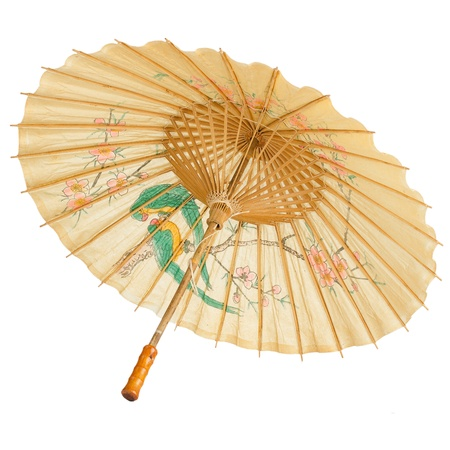 Foto de Oriental umbrella isolated on white background. - Imagen libre de derechos