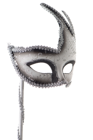 Photo for Carnival mask isolated on white background - Royalty Free Image