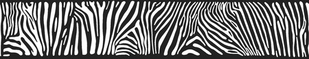Illustration for Great horizontal seamless background with Zebra texture - Royalty Free Image