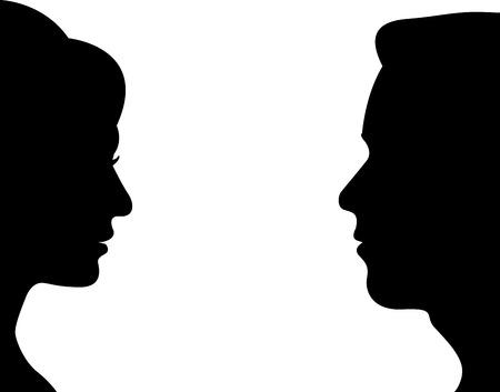 Ilustración de man and women vector - Imagen libre de derechos