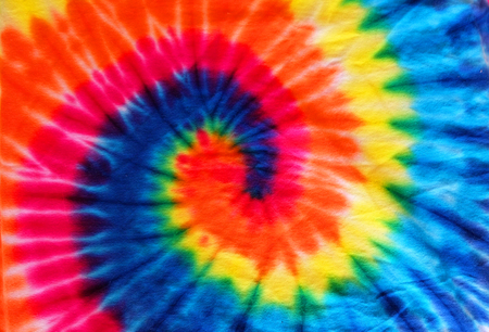 Photo pour close up tie dye fabric pattern background - image libre de droit