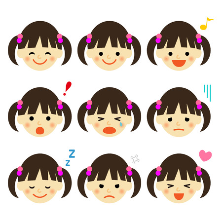 Facial expressions of girl