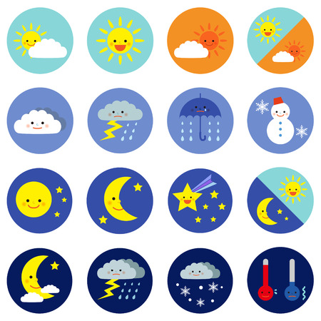 Illustration pour weather icons - image libre de droit