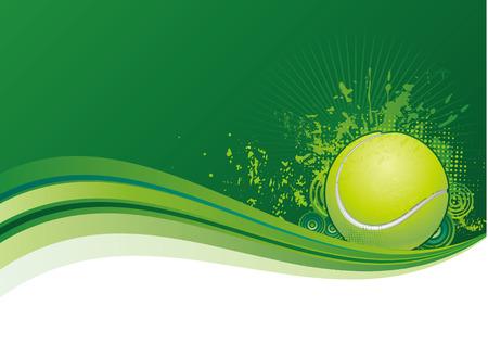 tennis design elements,green background