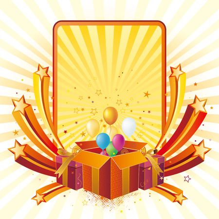 gift box,balloon,celebration background
