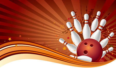 bowling sport design element,abstract background