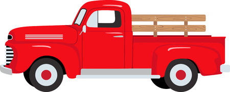 Ilustración de The classic farm truck will satisfy vehicle-lovers of any age!  A great design for T-shirts and sweatshirts. - Imagen libre de derechos