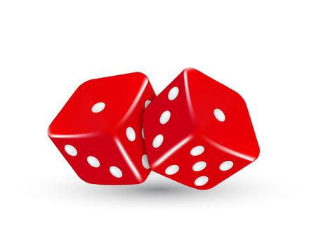 Ilustración de This is vector casino illustration two red dice - Imagen libre de derechos