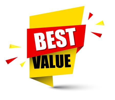 Illustration pour Banner best value illustration design. - image libre de droit