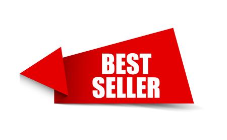Illustration for banner best seller - Royalty Free Image
