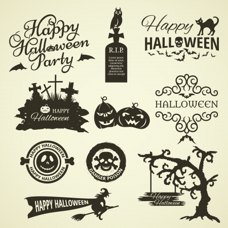 Set of Halloween Design Elements