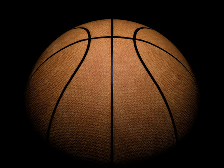Photo pour Basketball close-up on black background - image libre de droit