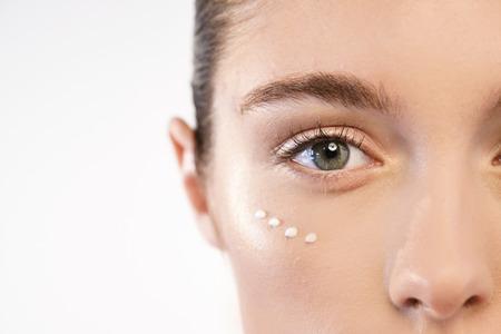 Foto de Anti-aging and night and day. Concept of beauty, creams, skincare and clear. - Imagen libre de derechos