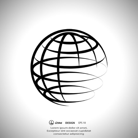 Illustration for Pictograph of globe - Royalty Free Image