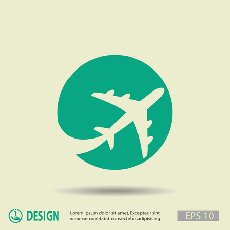 Illustration for Pictograph of airplane - Royalty Free Image