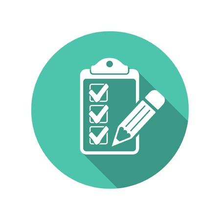 Illustration pour Pictograph of checklist - image libre de droit