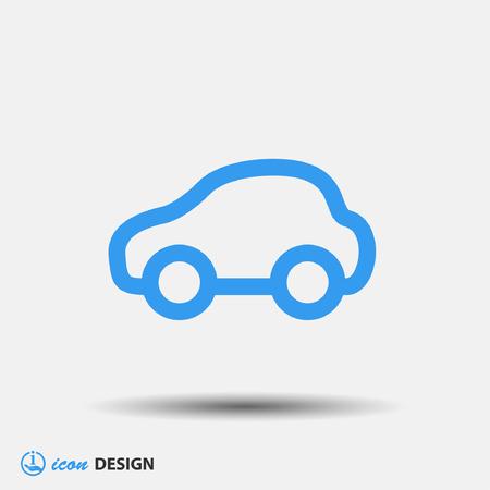 Illustration pour Pictograph of car - image libre de droit