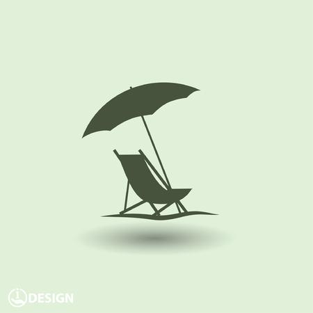 Ilustración de Pictograph of summer vacation - Imagen libre de derechos