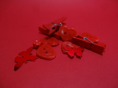 Foto de Art diferent colored objects red - Imagen libre de derechos