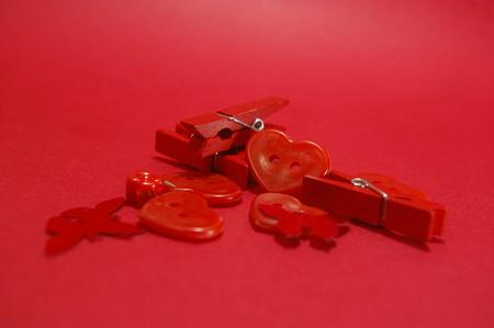 Foto de Hearts and different object in a world of network - Imagen libre de derechos