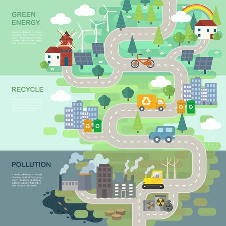 Illustration pour environmental protection concept in 3d isometric flat design - image libre de droit