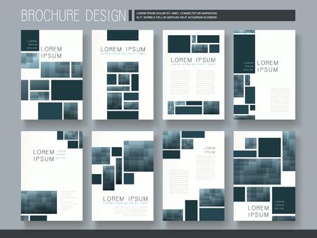 Illustration pour modern brochure template design with mosaic elements - image libre de droit