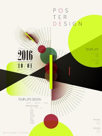 Ilustración de modern poster template design with geometric elements - Imagen libre de derechos