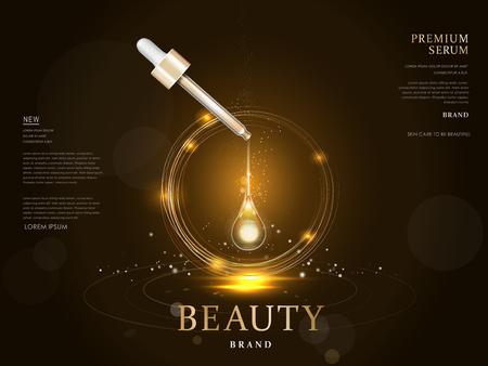 Illustration pour premium serum container blank package model, 3d illustration for ads or magazine - image libre de droit