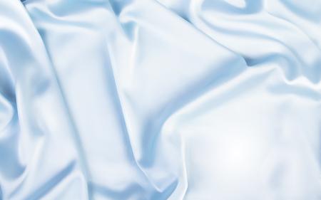 Ilustración de Gorgeous satin background, top view of blue fabric in 3d illustration - Imagen libre de derechos
