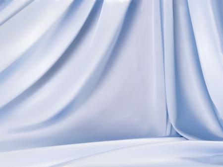 Ilustración de Light blue satin, beautiful droop style fabric background for design uses in 3d illustration - Imagen libre de derechos