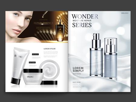 Illustration pour Cosmetic magazine design. - image libre de droit