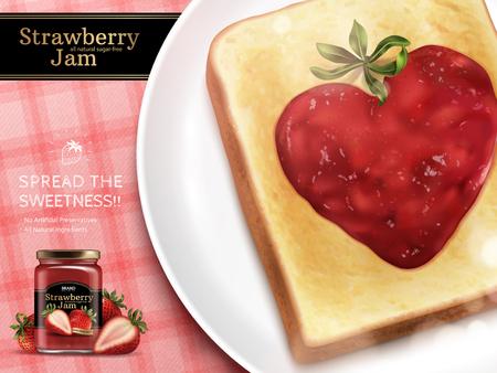 Ilustración de Strawberry jam advertisement illustration. - Imagen libre de derechos