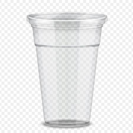 Illustration pour Transparent plastic takeaway cup in 3d illustration - image libre de droit