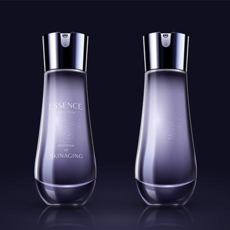 Ilustración de Purple blank skincare container mockup in 3d illustration - Imagen libre de derechos